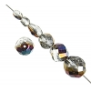 Glass Firepolished Beads Crystal Vitrail Half Coat Asst